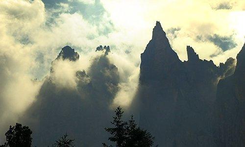 360° panorama in cima delle Dolomiti