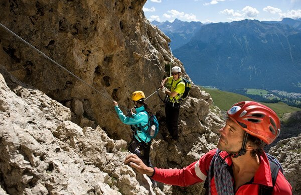 Moutaineering and climbing in the Dolomites