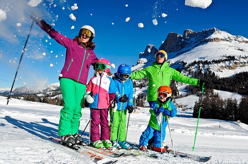 Winter holiday in the Dolomites