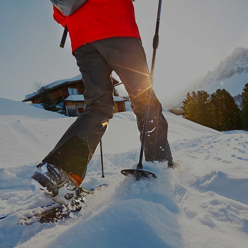 Snowshoes and winter hiking in the Dolomites