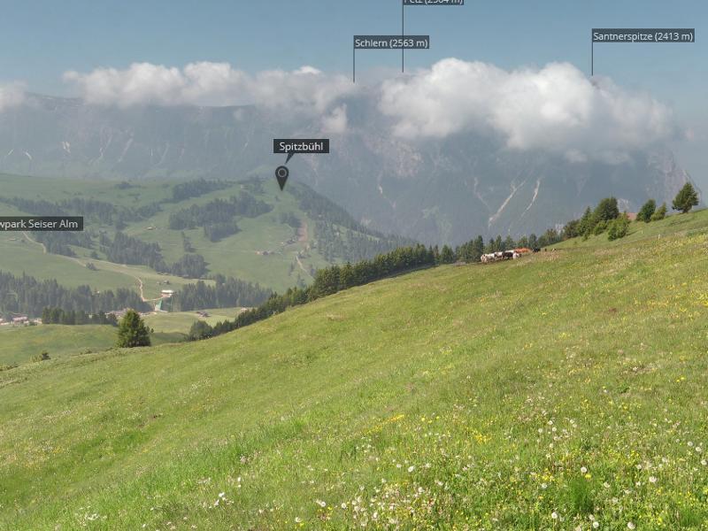 Panoramacam Tiers am Rosengarten